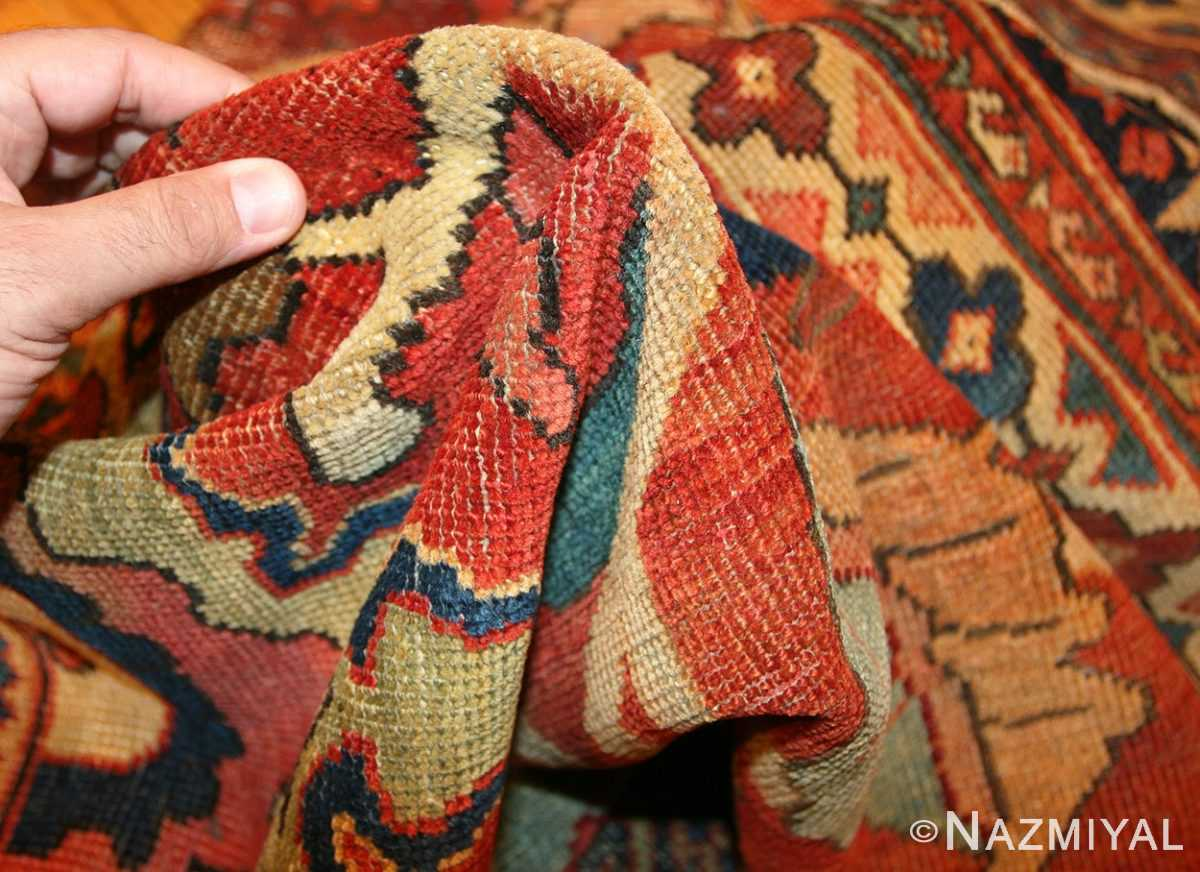 antique persian sultanabad rug 44175 pile Nazmiyal