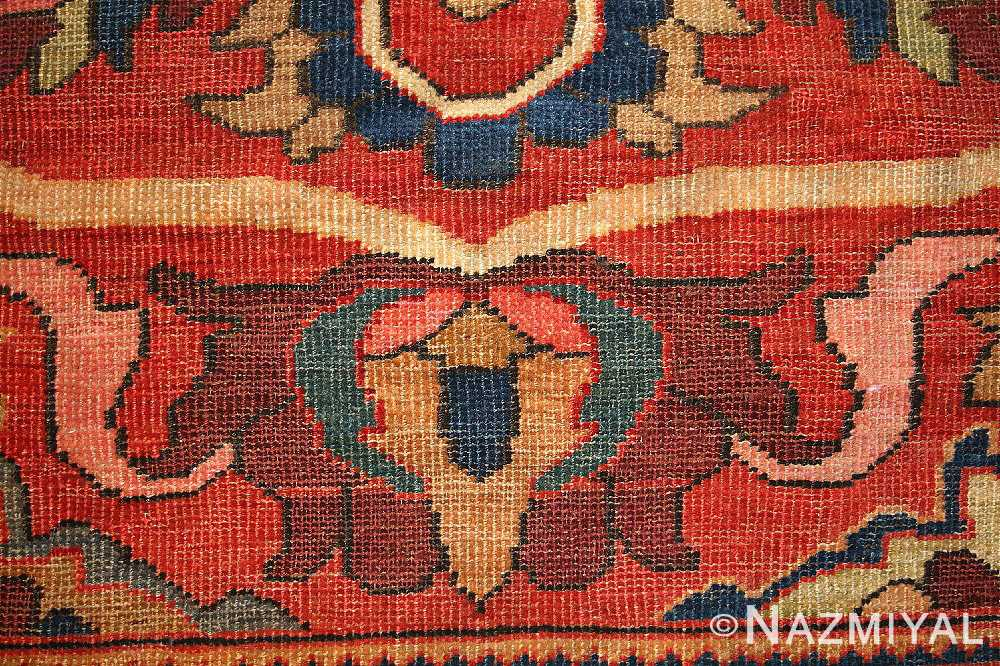 antique persian sultanabad rug 44175 weave Nazmiyal