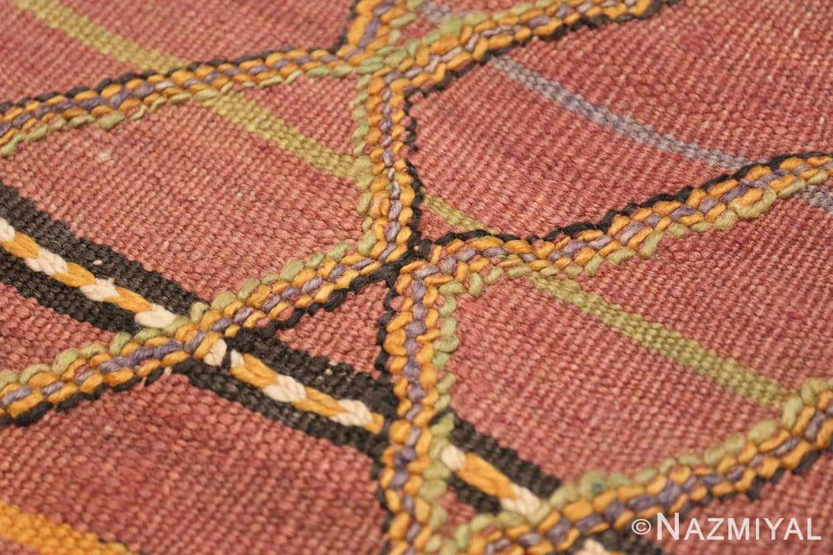 Close-up Vintage Kilim Moroccan rug 44467 by Nazmiyal