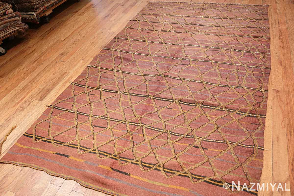 Full Vintage Kilim Moroccan rug 44467 by Nazmiyal