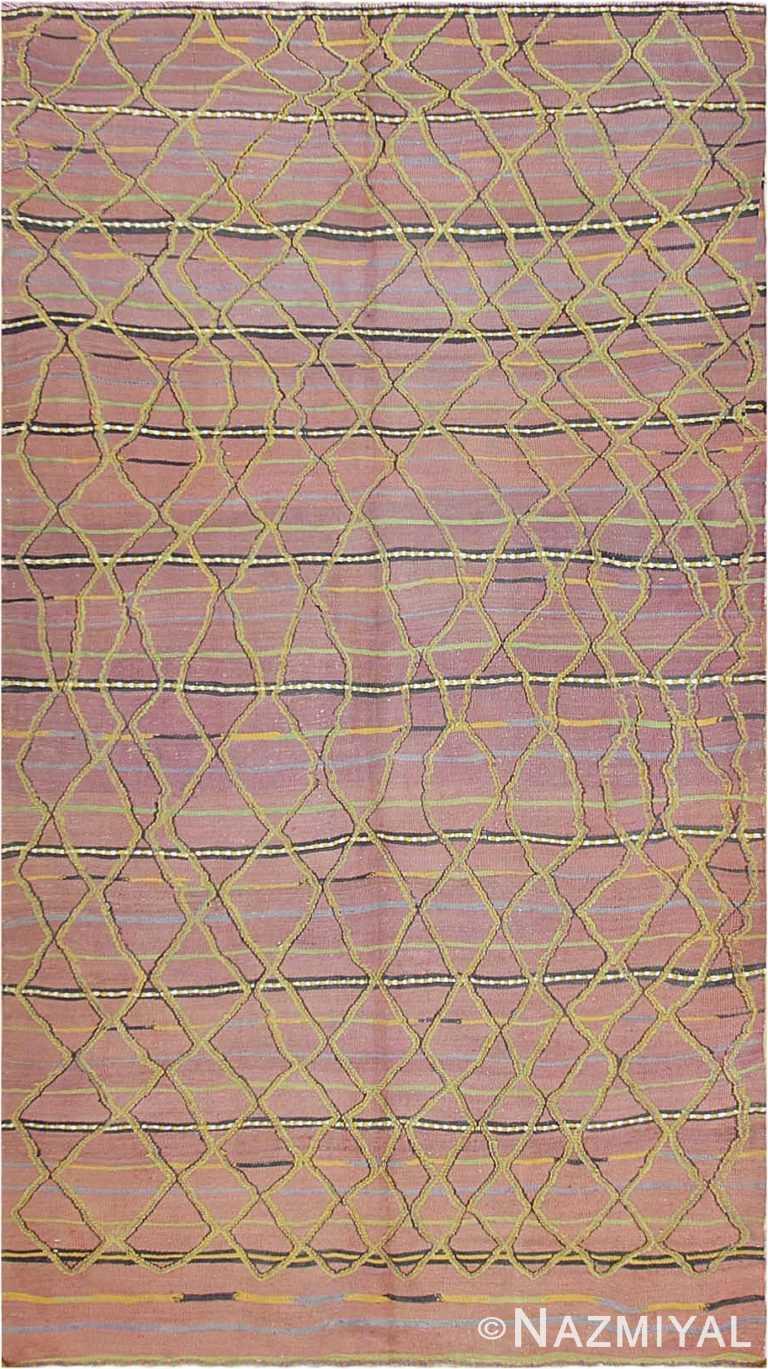 Vintage Purple Kilim Moroccan Rug #44467 by Nazmiyal Antique Rugs
