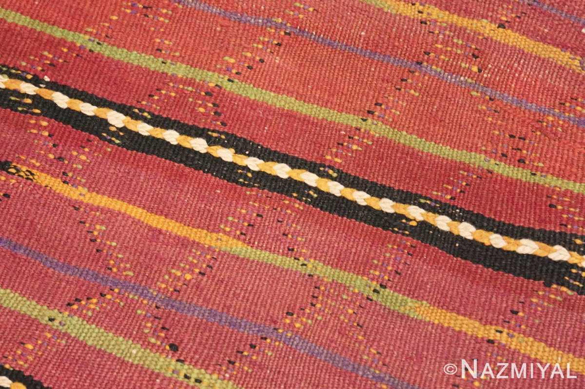 Weave detail Vintage Kilim Moroccan rug 44467 by Nazmiyal