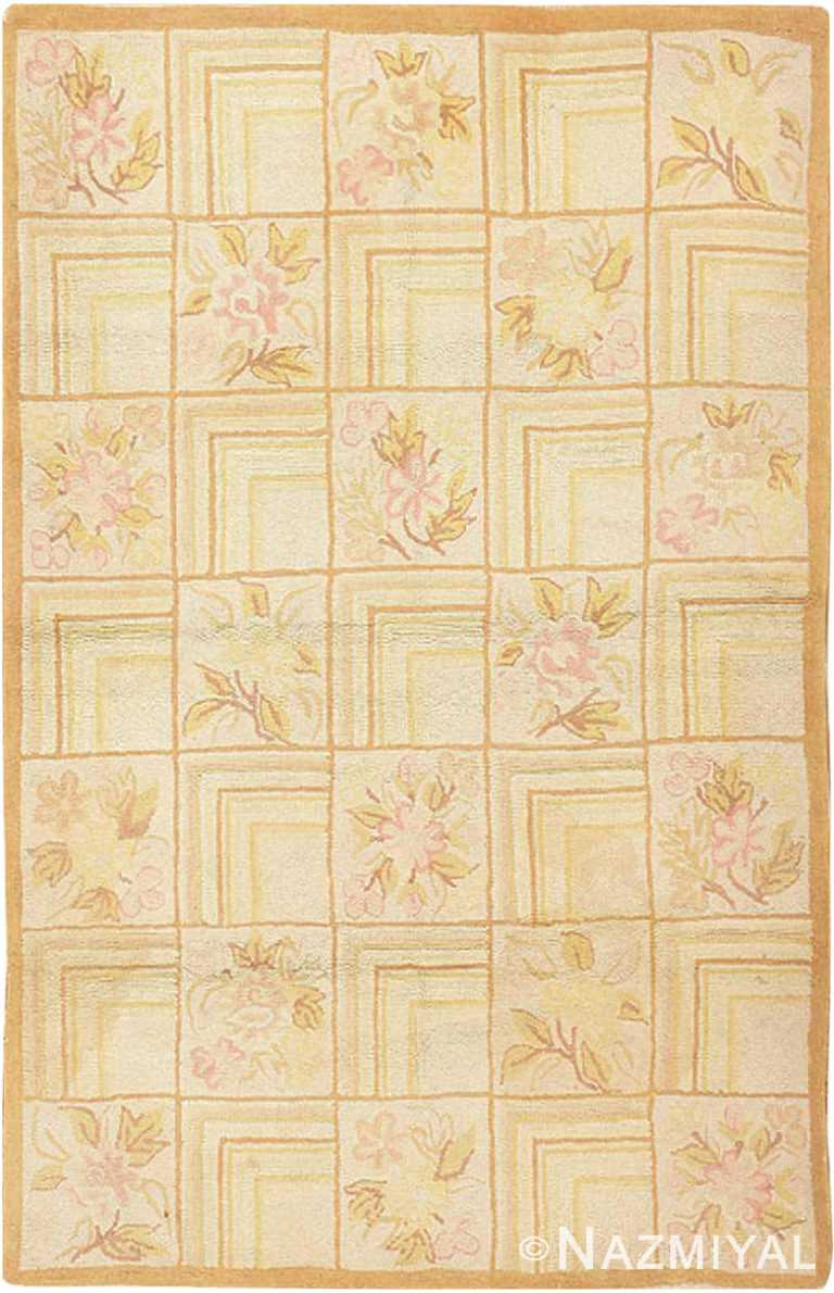 Antique American Hooked Rug #2607 by Nazmiyal Antique Rugs