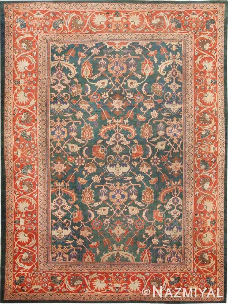 Antique Green Sultanabad Persian Rug #42986 by Nazmiyal Antique Rugs