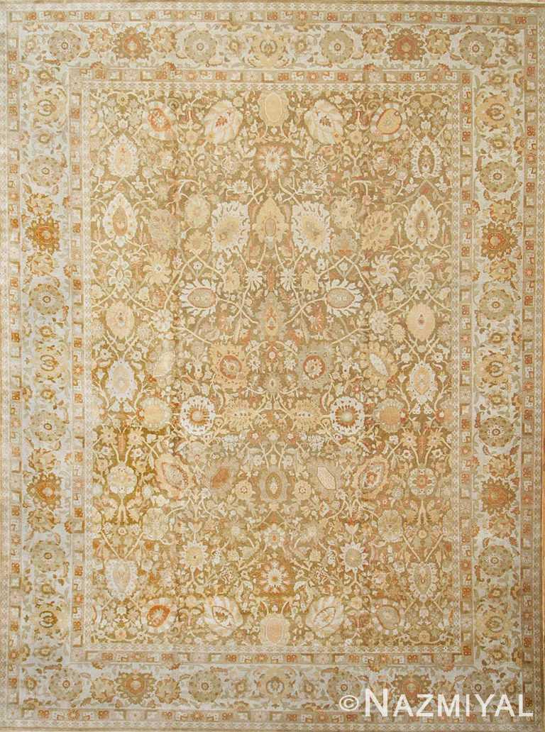 Large Modern Persian Tabriz Design Turkish Oriental Rug #41237 by Nazmiyal Antique Rugs