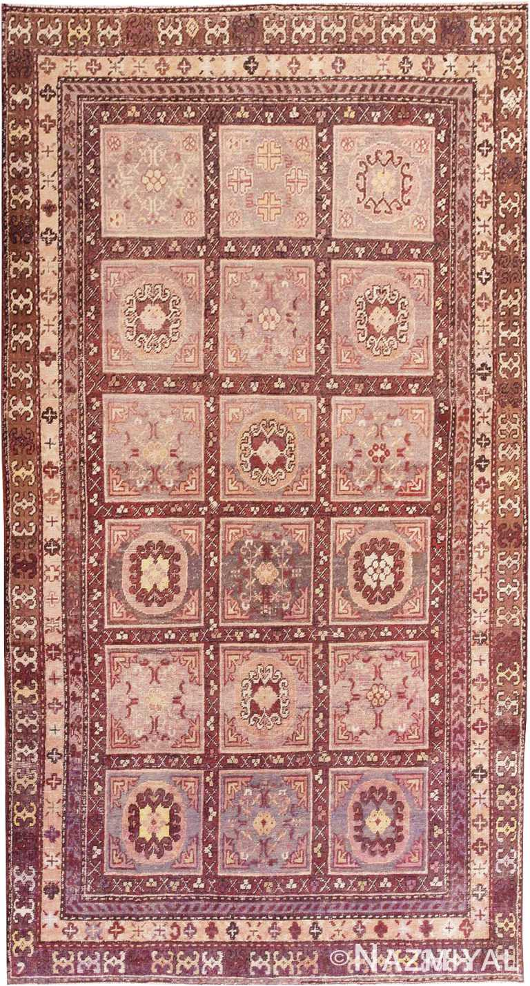 Oriental Garden Design Antique Khotan Rug #44543 by Nazmiyal Antique Rugs
