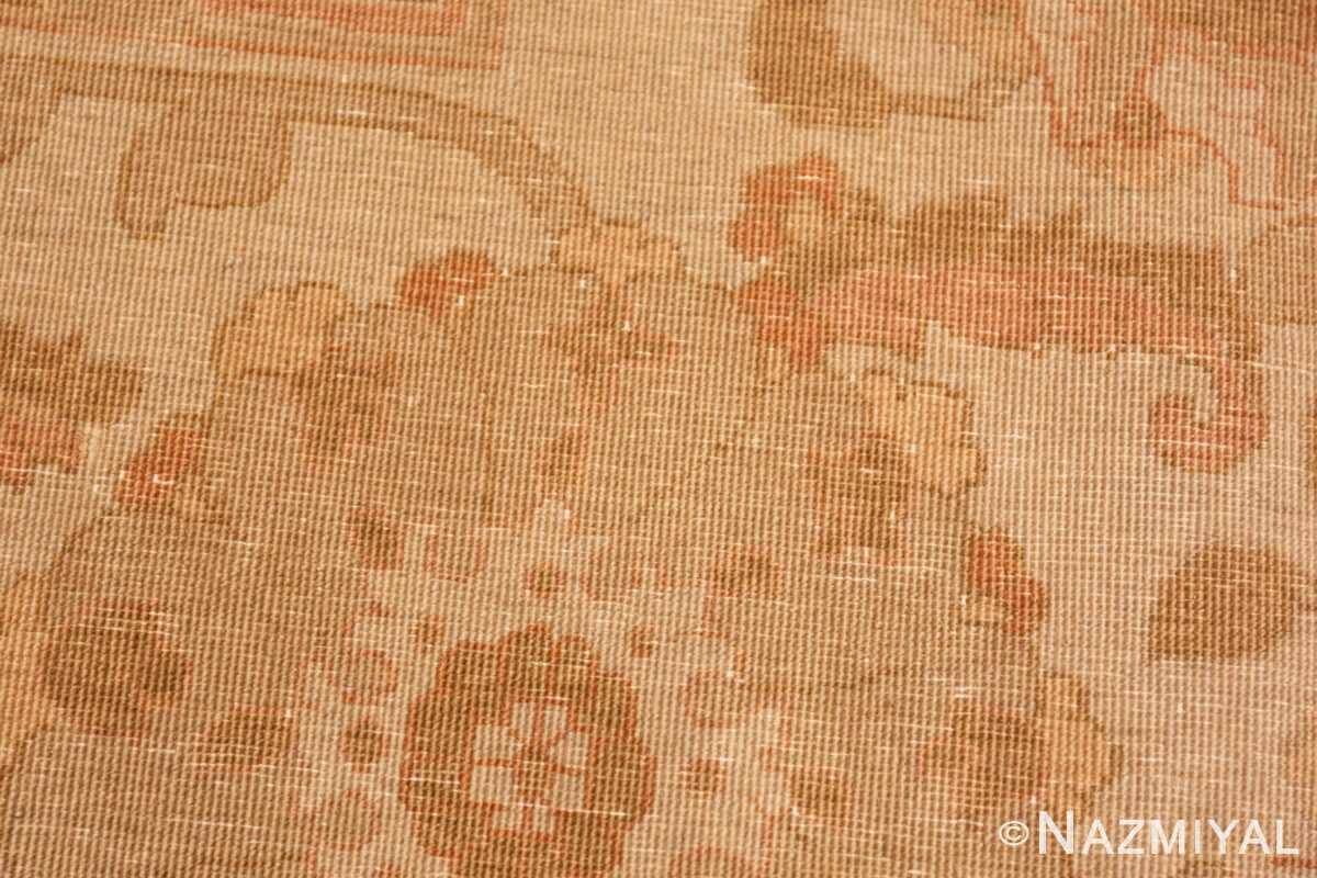 Weave detail large modern Persian Tabriz design turkish rug 41237 by Nazmiyal