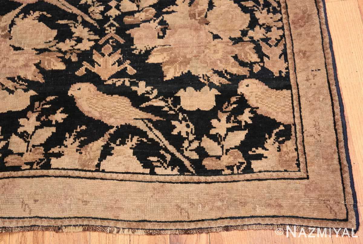 Corner Antique hall runner Caucasian Karabagh rug 44440 by Nazmiyal