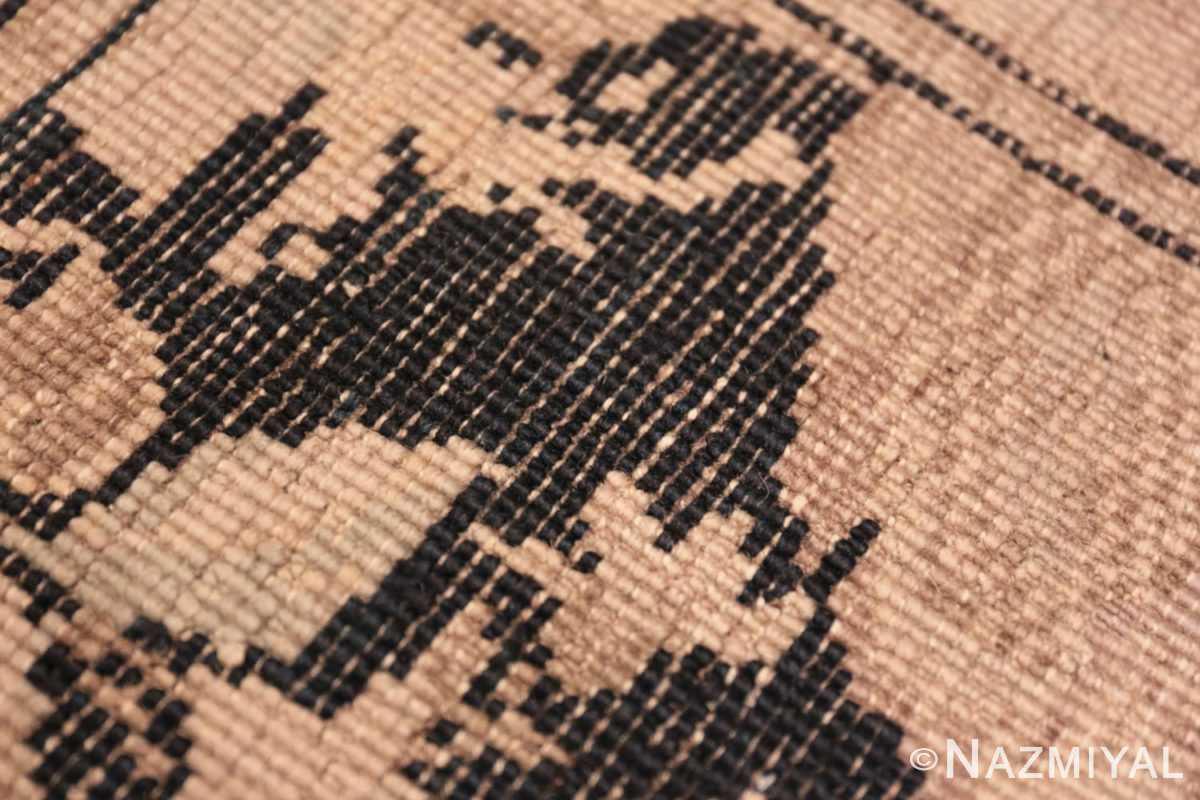 Weave detail Antique hall runner Caucasian Karabagh rug 44440 by Nazmiyal