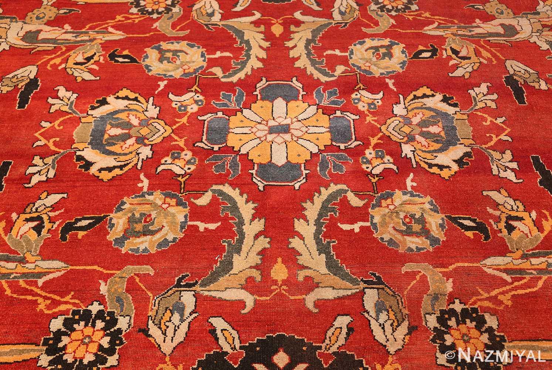antique agra indian rug 44615 blue Nazmiyal