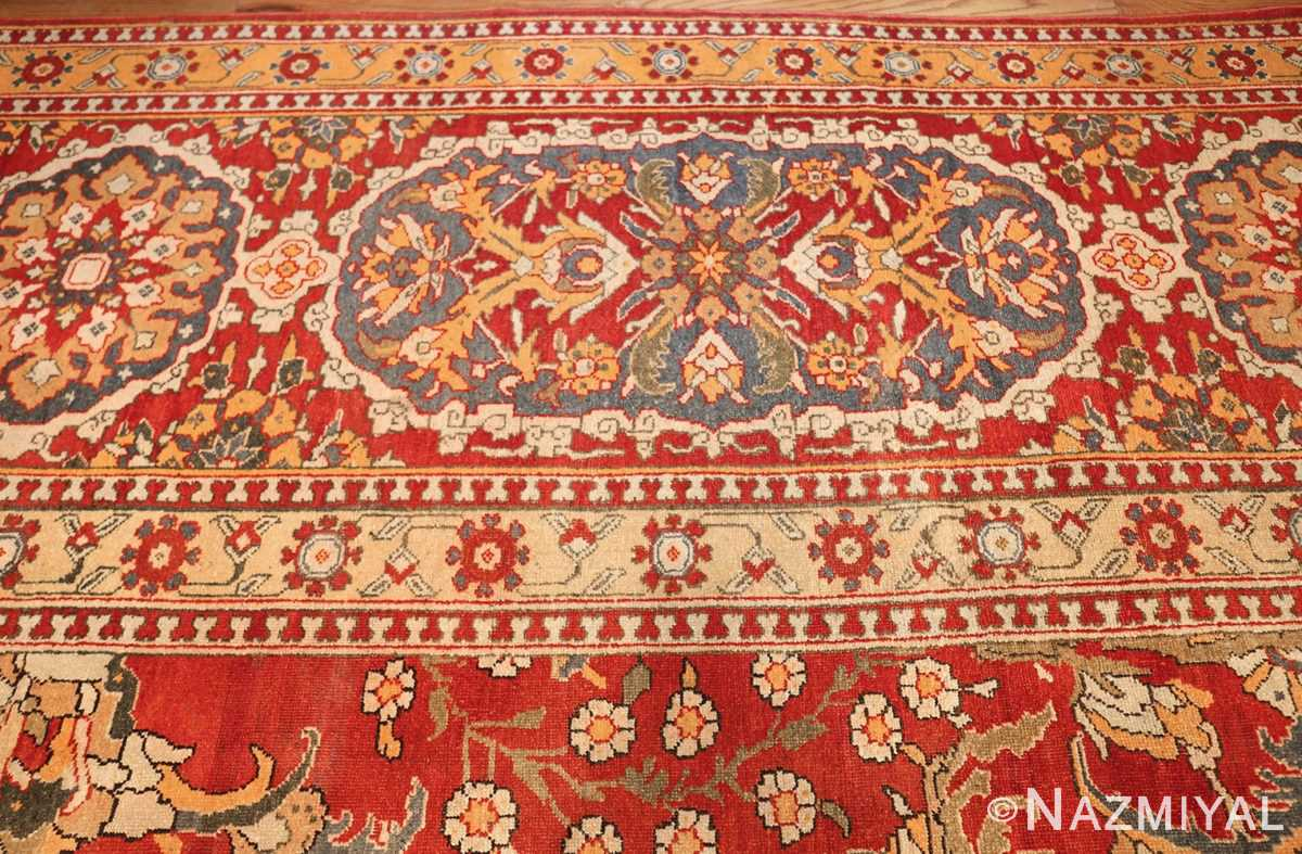 antique agra indian rug 44615 border Nazmiyal