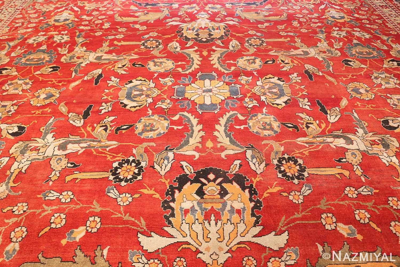 antique agra indian rug 44615 field Nazmiyal