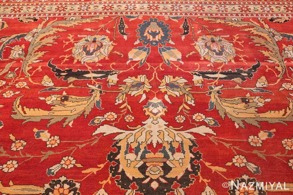antique agra indian rug 44615 top Nazmiyal