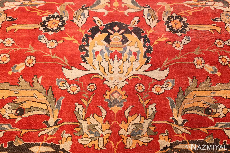 antique agra indian rug 44615 white Nazmiyal