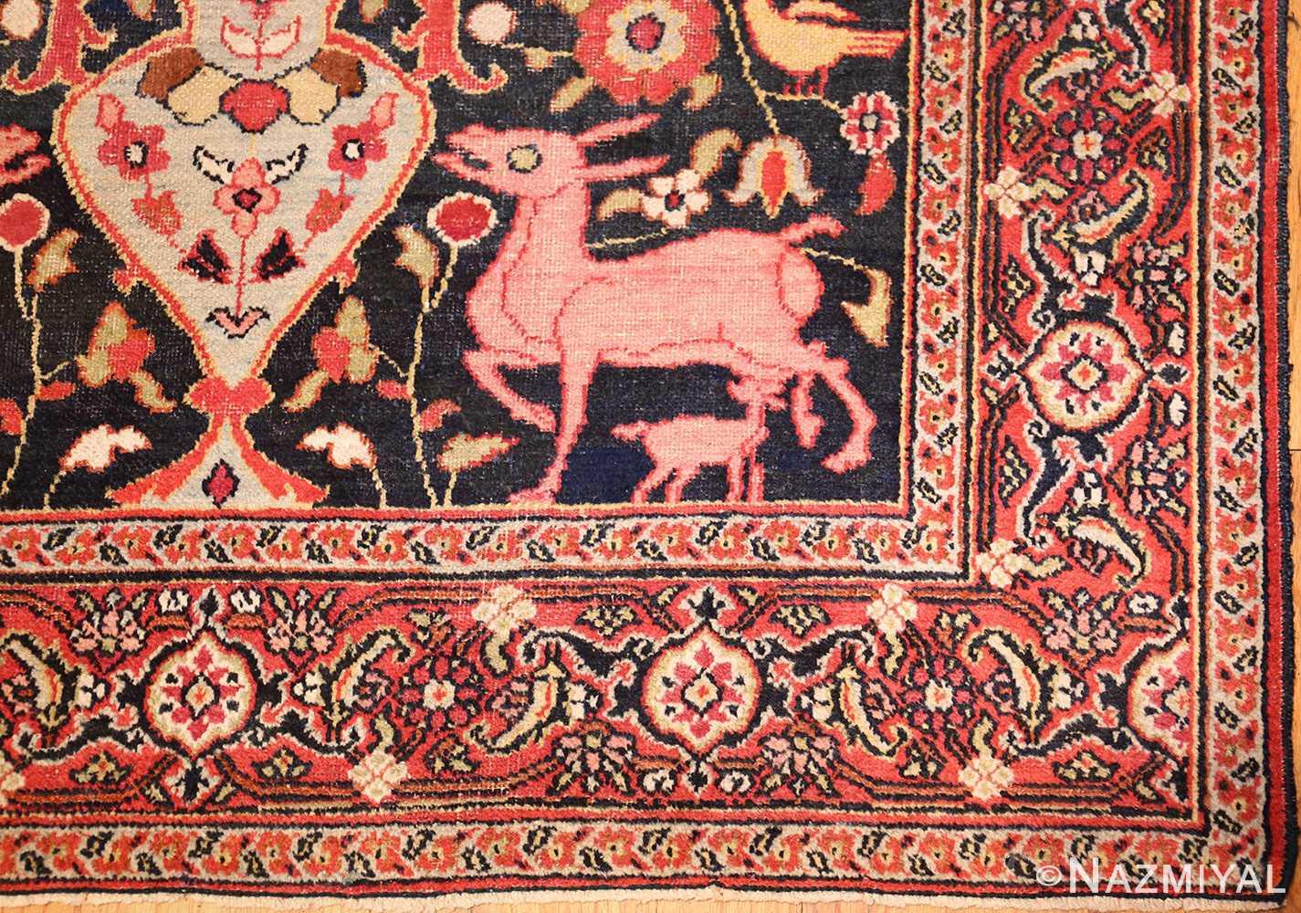 antique persian khorassan rug 44612 corner Nazmiyal