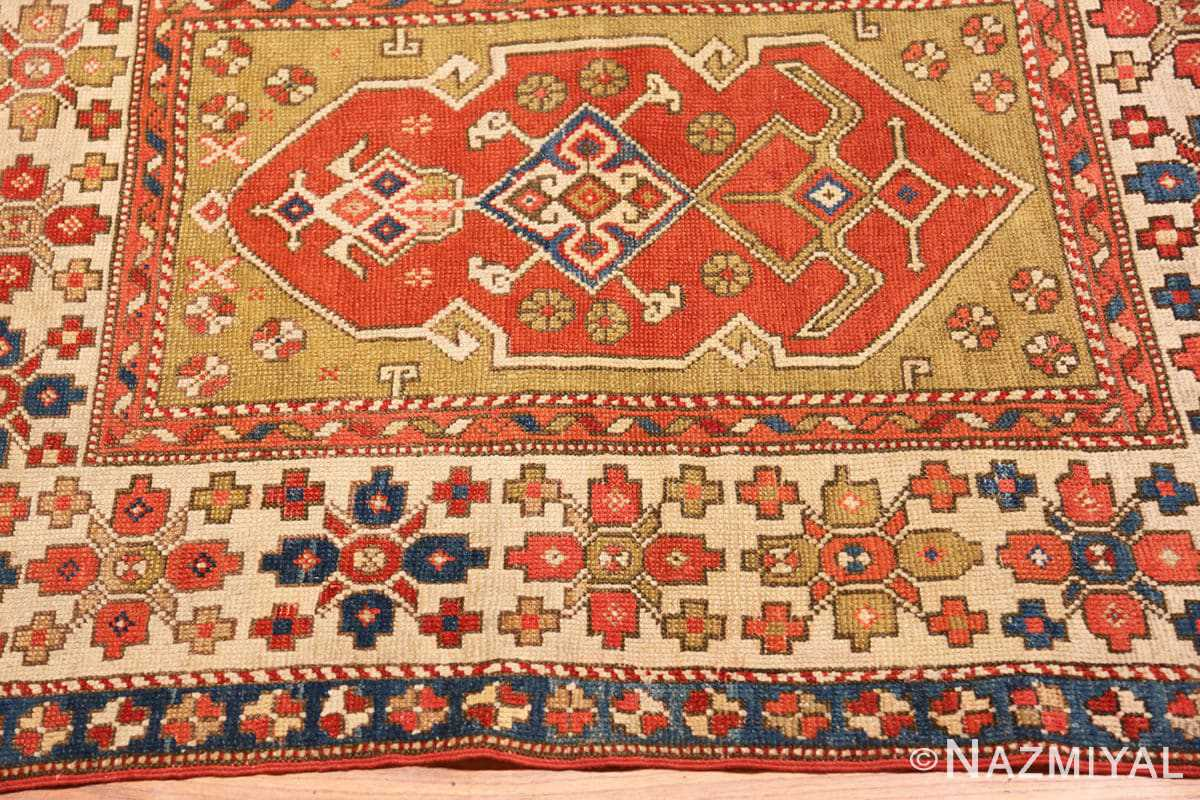 Border Small scatter size Tribal Antique Turkish Bergama rug 44443 by Nazmiyal