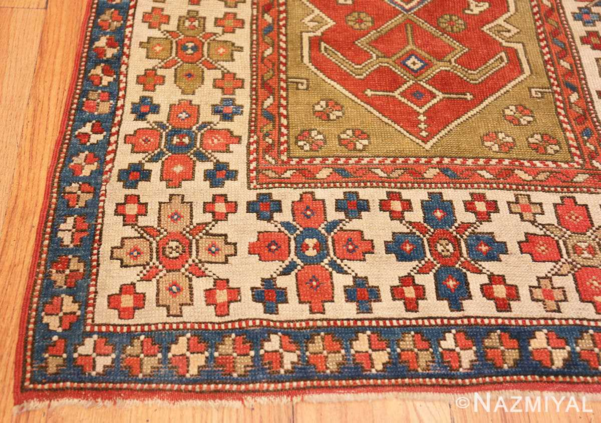 Corner Small scatter size Tribal Antique Turkish Bergama rug 44443 by Nazmiyal