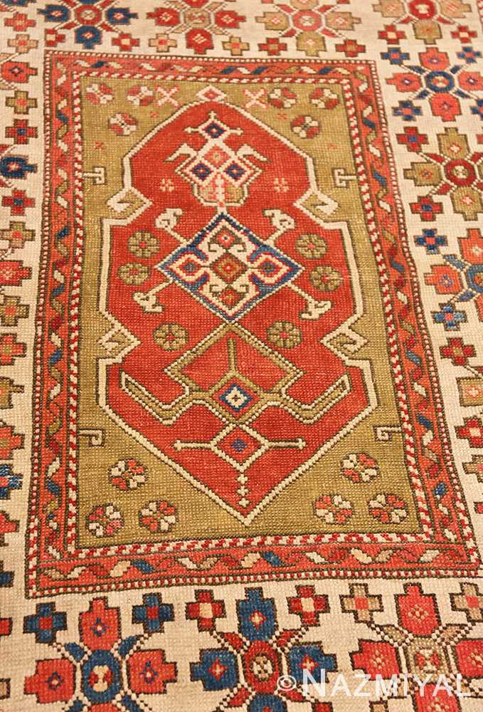 Detail Small scatter size Tribal Antique Turkish Bergama rug 44443 by Nazmiyal