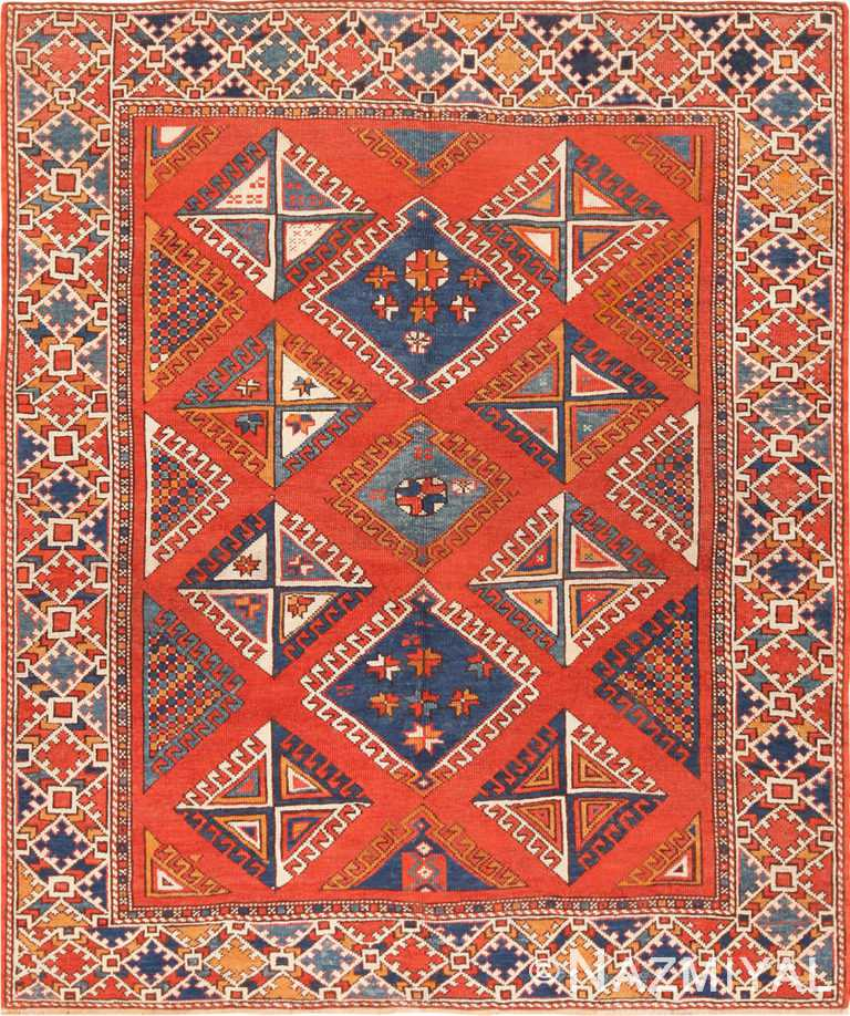 Full view antique Bergama rug 44627 by Nazmiyal