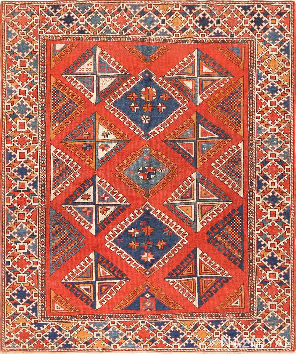 Turkish Bergama Carpet 44627 Nazmiyal