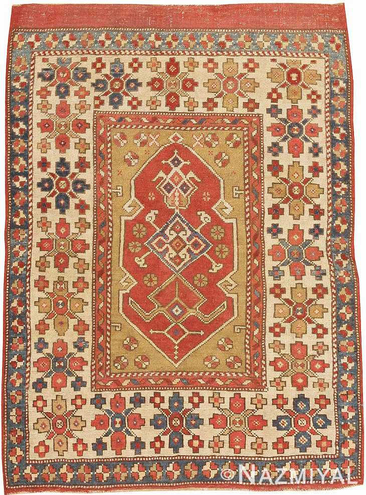 Full view Small scatter size Tribal Antique Turkish Bergama rug 44443 by Nazmiyal
