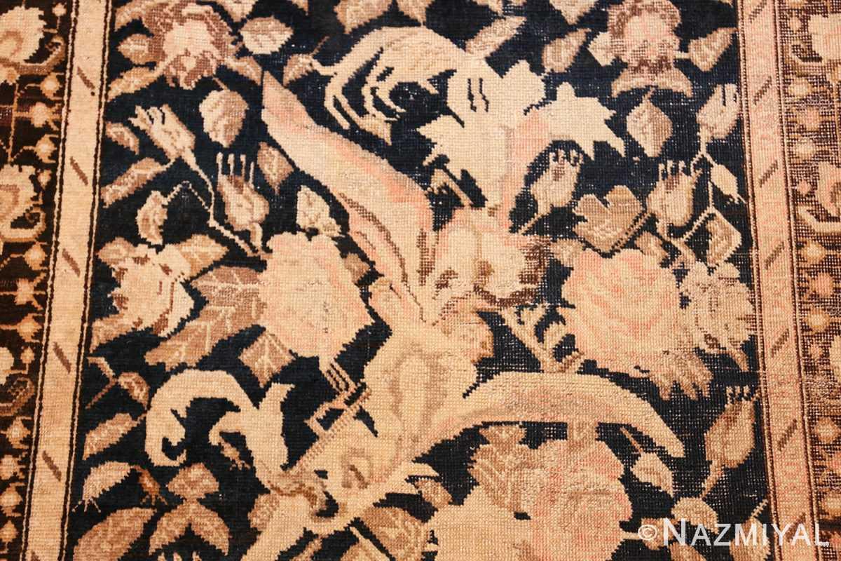 antique karabagh runner rug 44441 leaves Nazmiyal