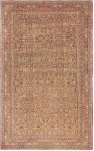 antique light brown background kerman persian rug 44491 Nazmiyal