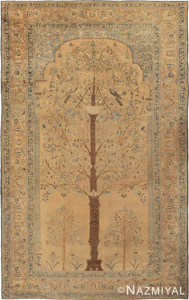 Oversized Antique Khorassan Persian Tree Of Life Rug 41935 by Nazmiyal Antique Rugs