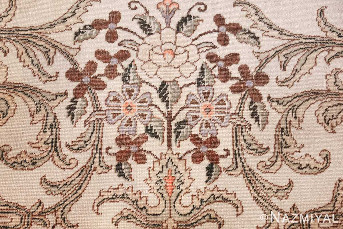 antique tabriz persian rug 44740 flowers Nazmiyal
