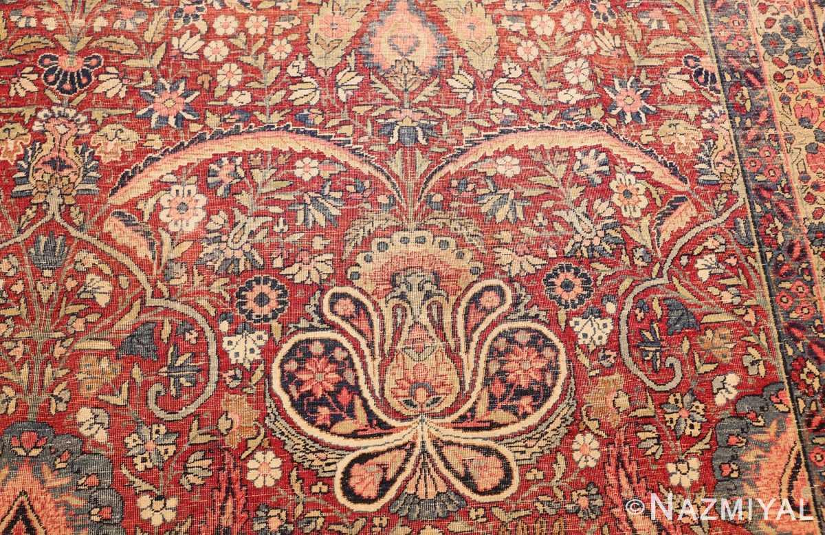 room size floral antique persian kerman rug 44646 flower Nazmiyal