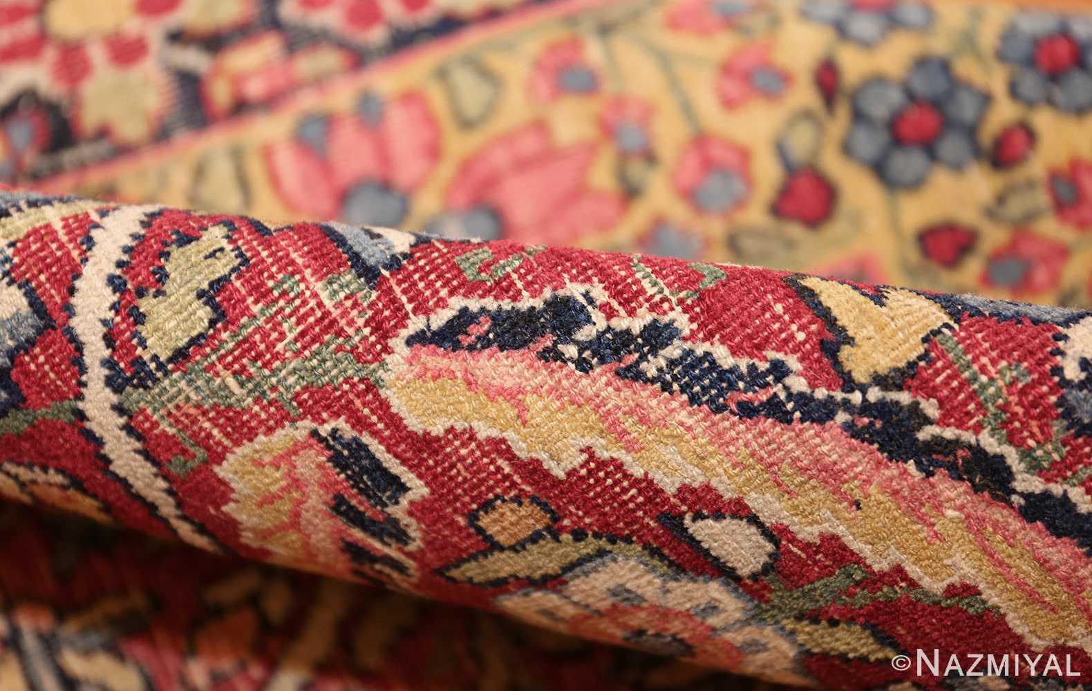 room size floral antique persian kerman rug 44646 pile Nazmiyal