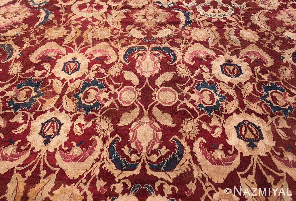 Background Large Antique Oversized Indian Agra rug 44601 by Nazmiyal