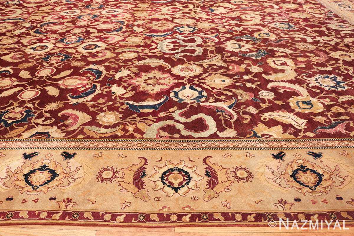 Border Large Antique Oversized Indian Agra rug 44601 by Nazmiyal