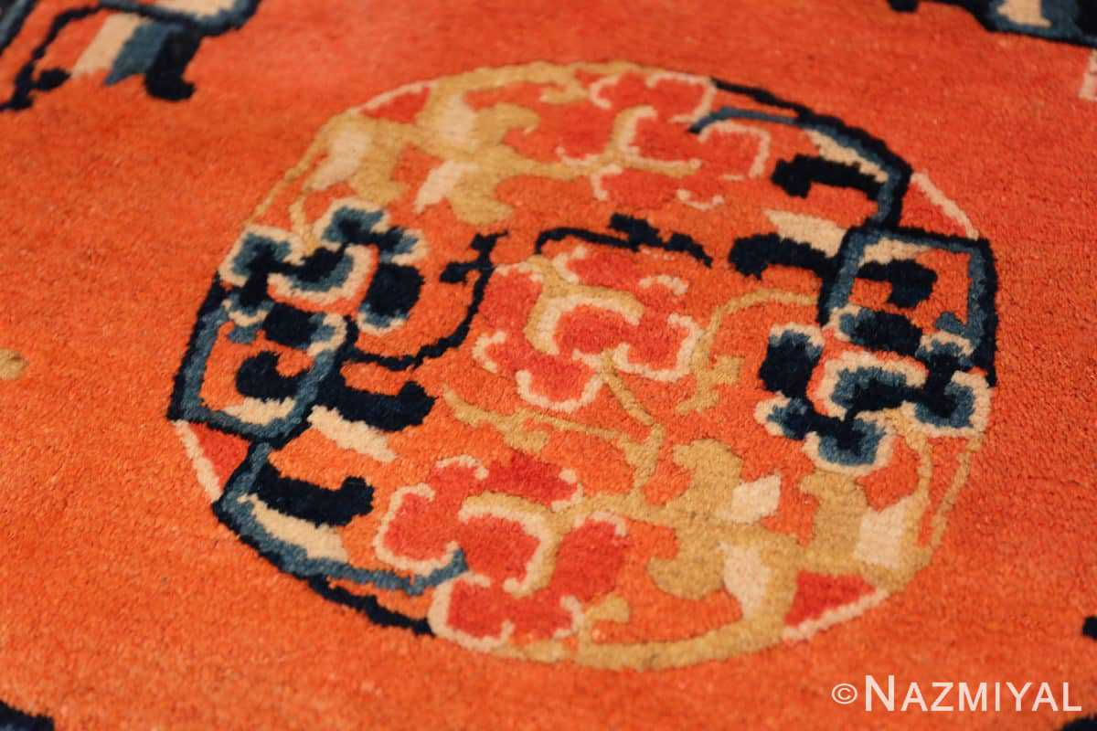 Center Square Small Scatter size Antique Chinese rug 44843 by Nazmiyal