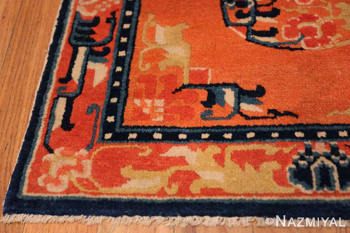 Corner Square Small Scatter size Antique Chinese rug 44843 by Nazmiyal