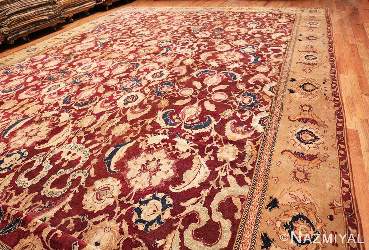 Full Large Antique Oversized Indian Agra rug 44601 by Nazmiyal
