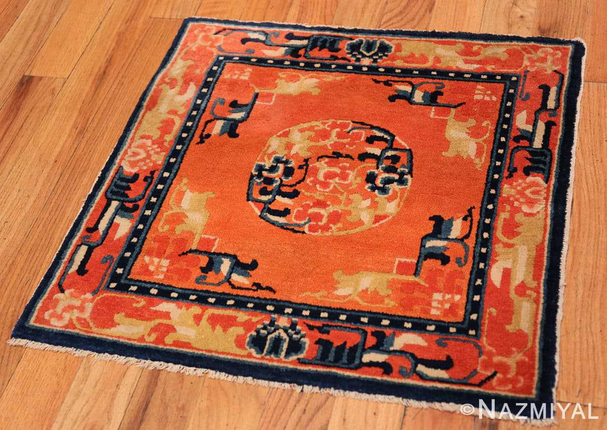 Full Square Small Scatter size Antique Chinese rug 44843 by Nazmiyal