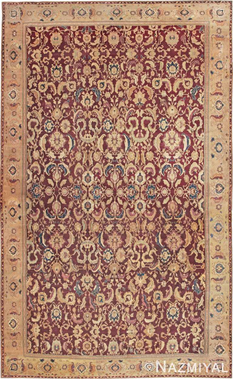 Large Antique Oversized Indian Agra Area Rug 44601 by Nazmiyal Antique Rugs