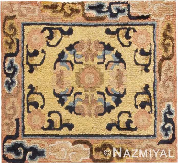 Small Square Antique Chinese Rug #44848 by Nazmiyal Antique Rugs