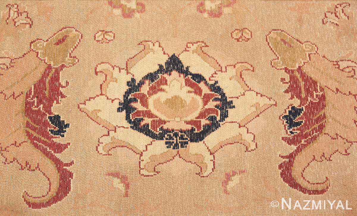 Weave detail Large Antique Oversized Indian Agra rug 44601 by Nazmiyal
