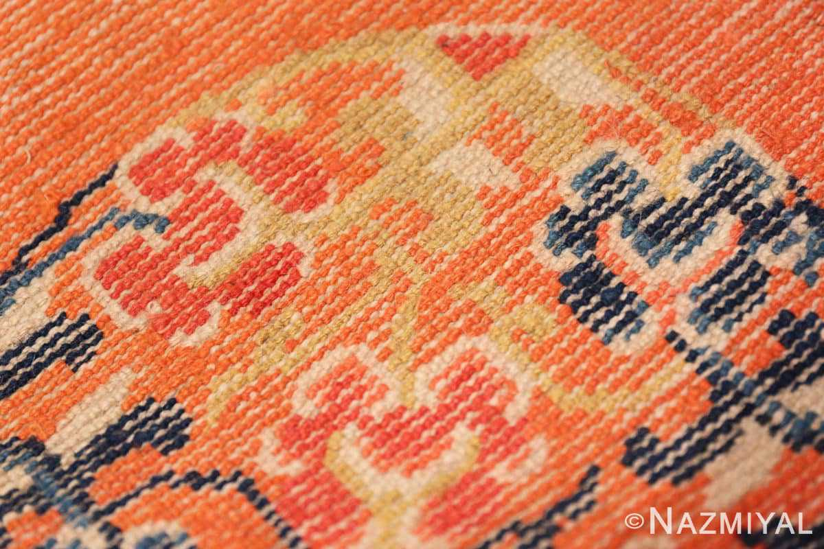 Weave detail Square Small Scatter size Antique Chinese rug 44843 by Nazmiyal
