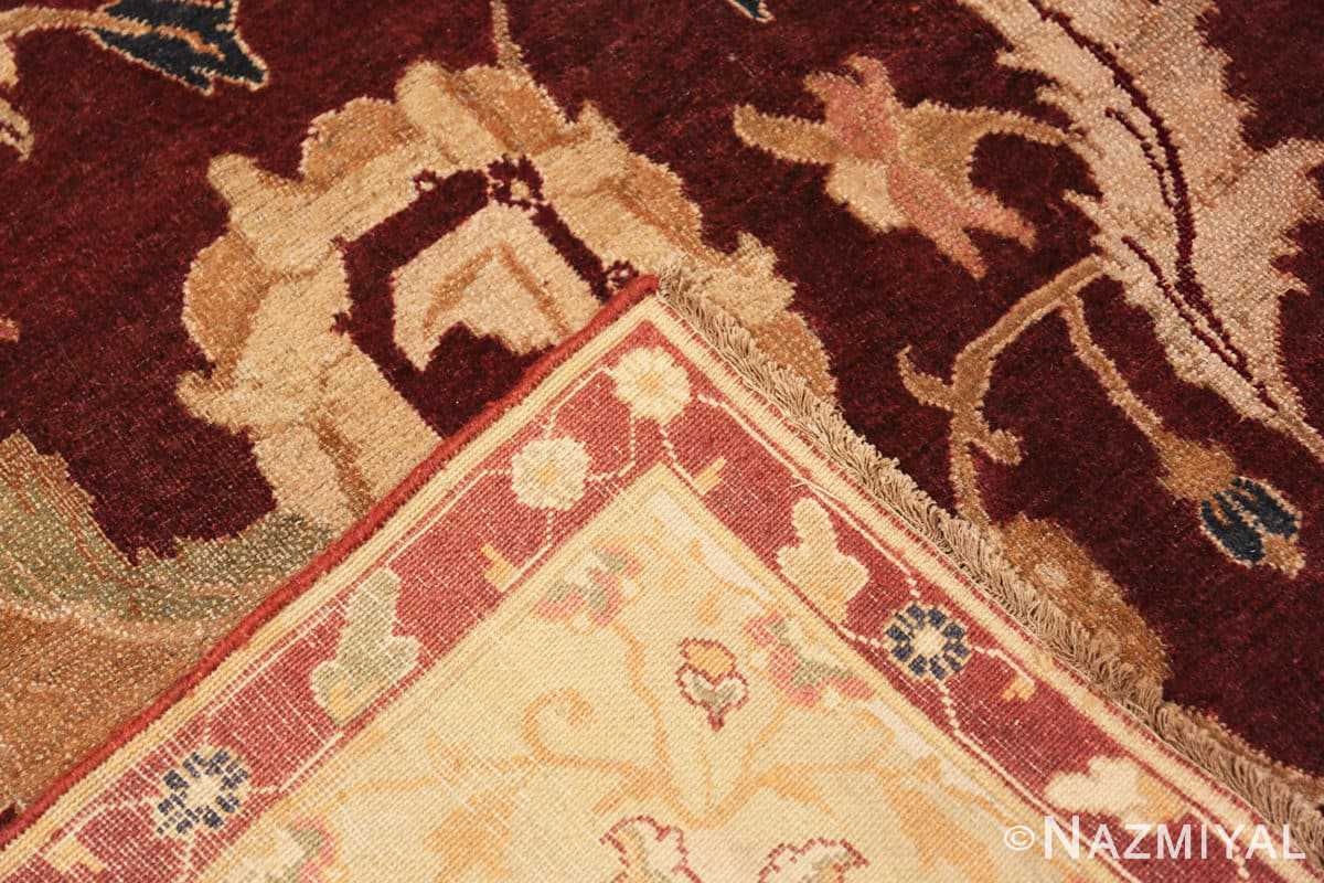 Weave Large Antique Oversized Indian Agra rug 44601 by Nazmiyal