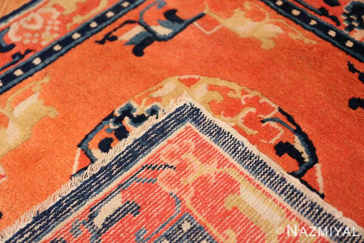 Weave Square Small Scatter size Antique Chinese rug 44843 by Nazmiyal