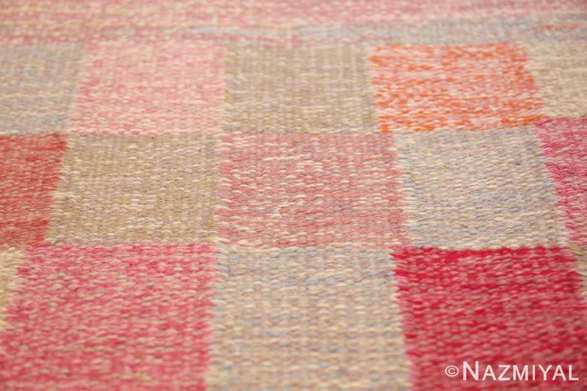 vintage swedish rug 44880 squares Nazmiyal