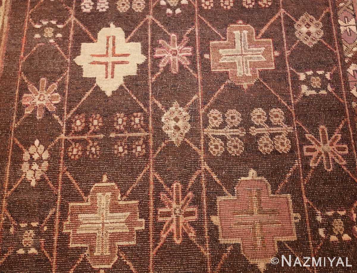 antique khotan rug 44546 closeup Nazmiyal