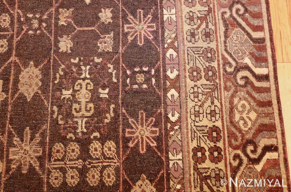 antique khotan rug 44546 side Nazmiyal