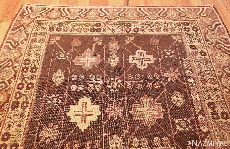 antique khotan rug 44546 top Nazmiyal