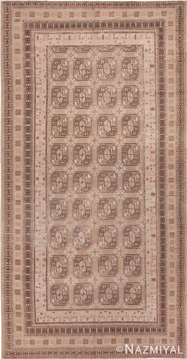 Antique Long and Narrow Oriental Khotan Rug #41761 by Nazmiyal Antique Rugs