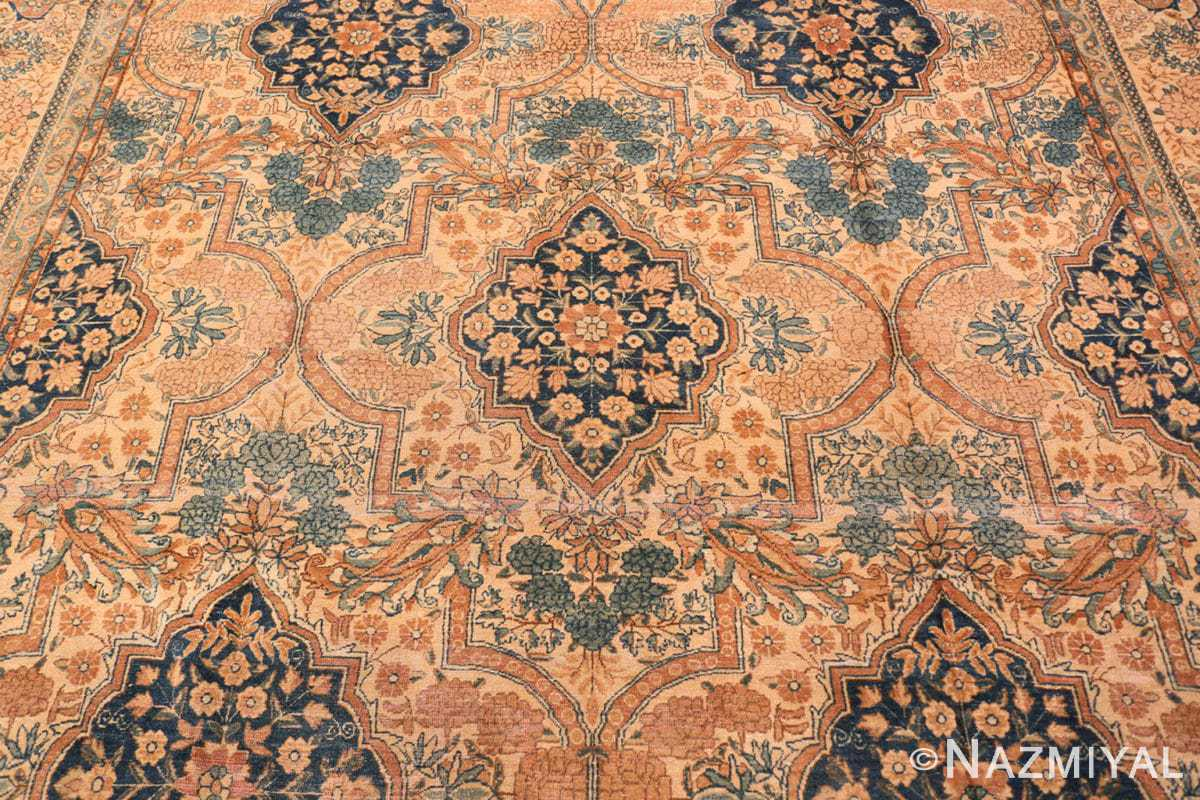 Background Antique Persian Kerman rug 44784 by Nazmiyal
