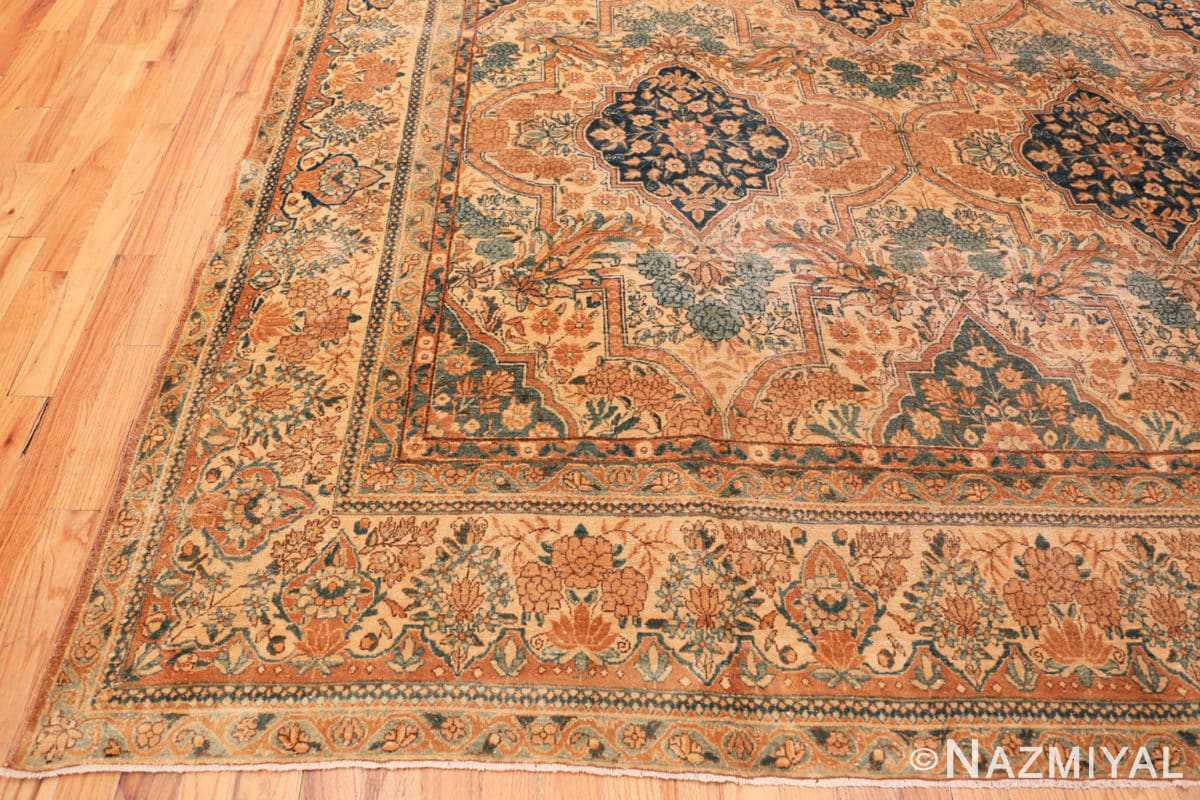 Corner Antique Persian Kerman rug 44784 by Nazmiyal